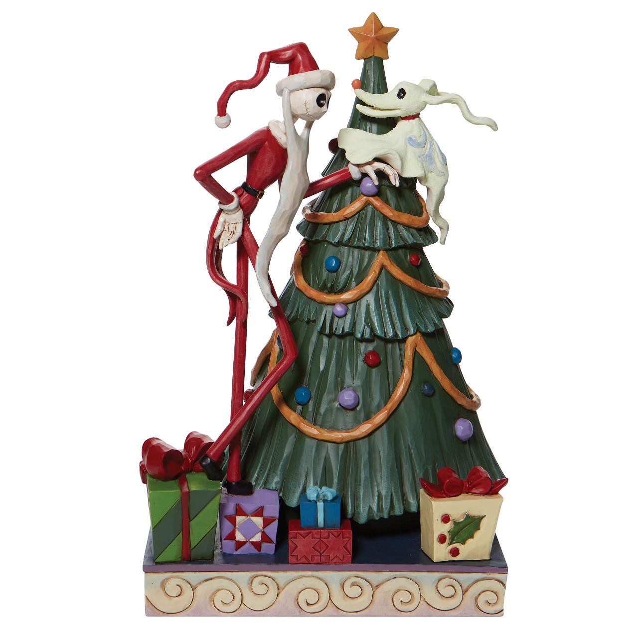 Disney Traditions - Santa Jack with Zero by Tree
