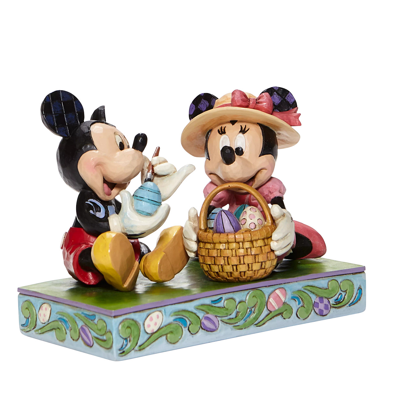 Disney Traditions - Easter Artistry (Mickey Painting Eggs and Minnie Holding Easter Basket)