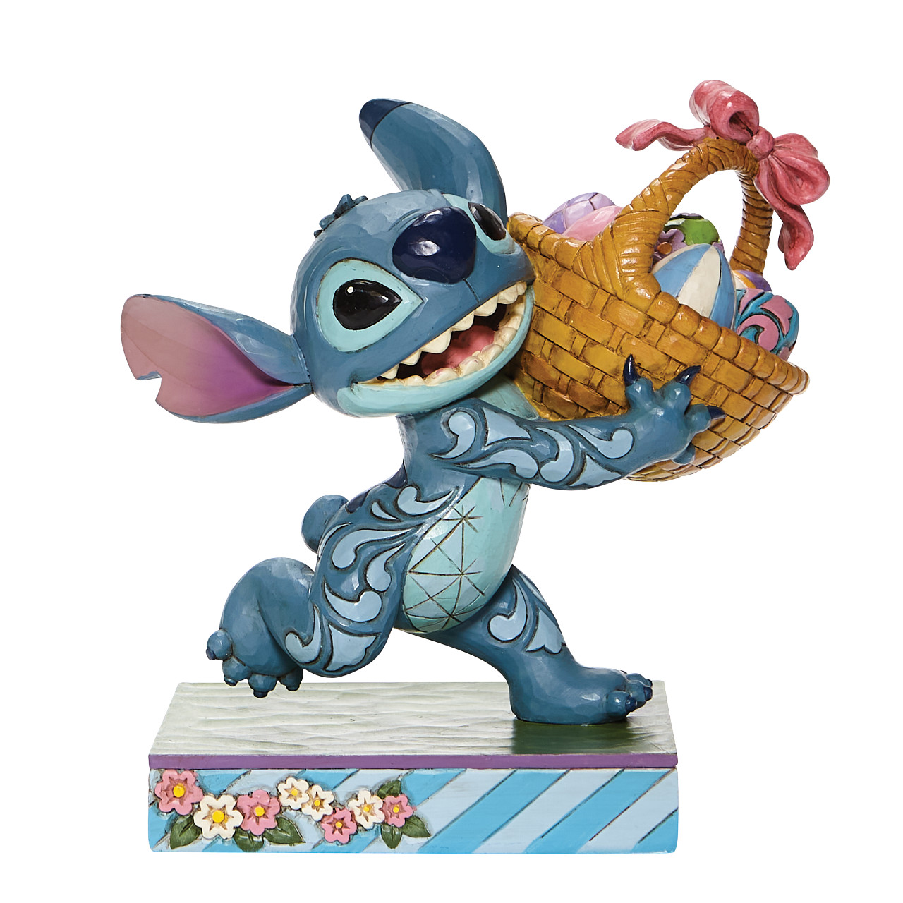 Disney Traditions - 6008075 Bizarre Bunny (Stitch Running Off with Easter Basket)